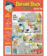 Disney Donald Duck Color Comic Book Magazine #20 London Ed 1989 Water Stain - $2.99