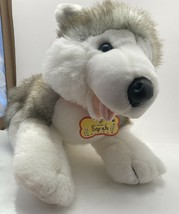 NEW Build A Bear BABW Siberian Husky Gray Wolf Dog Plush Stuffed Animal ... - $12.64