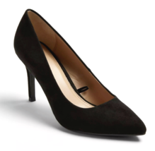 A New Day Women's Gemma Pointed Toe Heeled Pumps Black Wide NWT