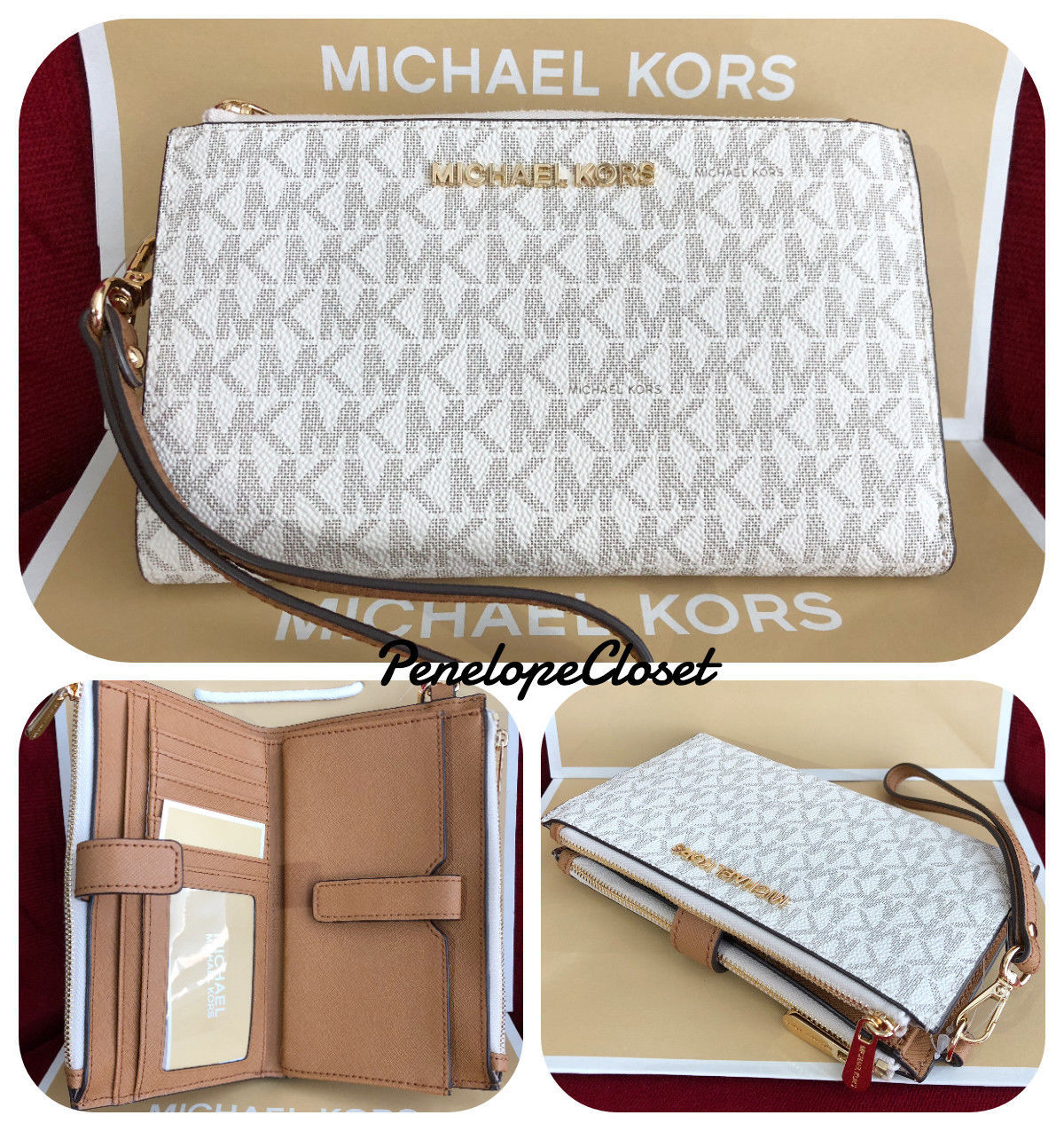 46bab7166c18 Nwt Michael Kors Mk Logo Pvc Jet Set Travel and similar items. 57