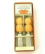 Williams-Sonoma Spreader Set ~ 2 Pumpkin Cheese Spreaders Thanksgiving ... - £14.56 GBP