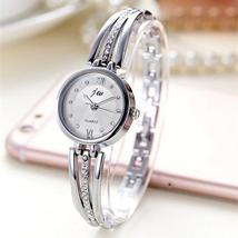 New Fashion Rhinestone Watches Women Luxury Brand Stainless Steel Bracelet watch image 3