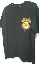 Harley Davidson Black T-Shirt with Gold Yellow Eagle on front pre-owned ... - $13.98