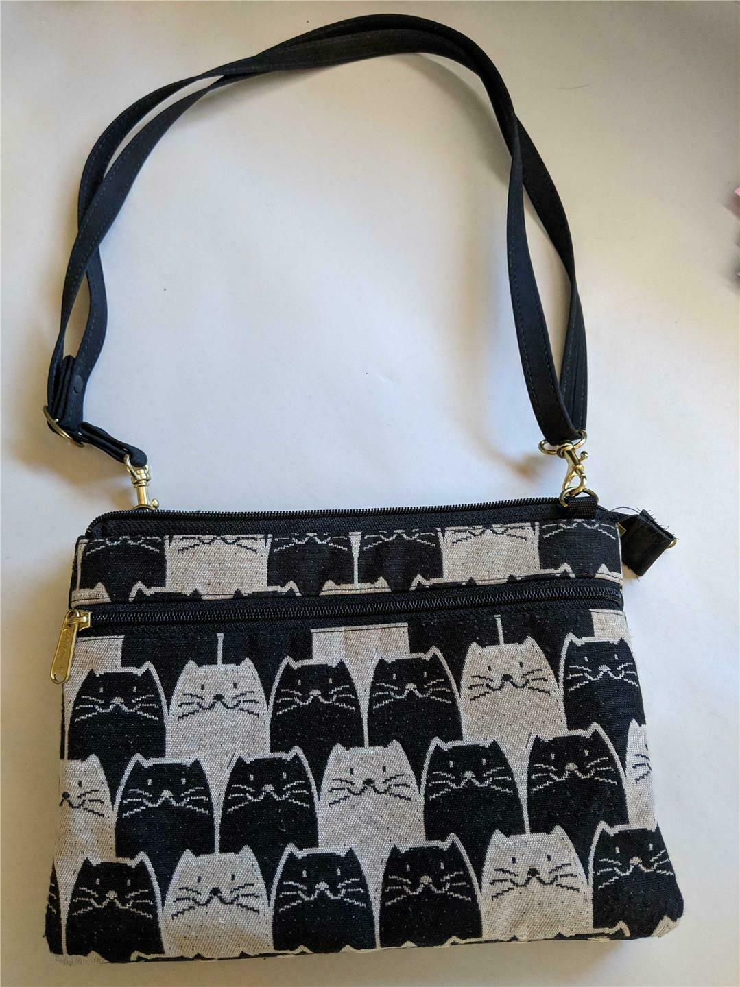 Primary image for DANNY K Beverly Hills CA Cat MEOWSER Tapestry Danny Pak Crossbody Purse Preowned