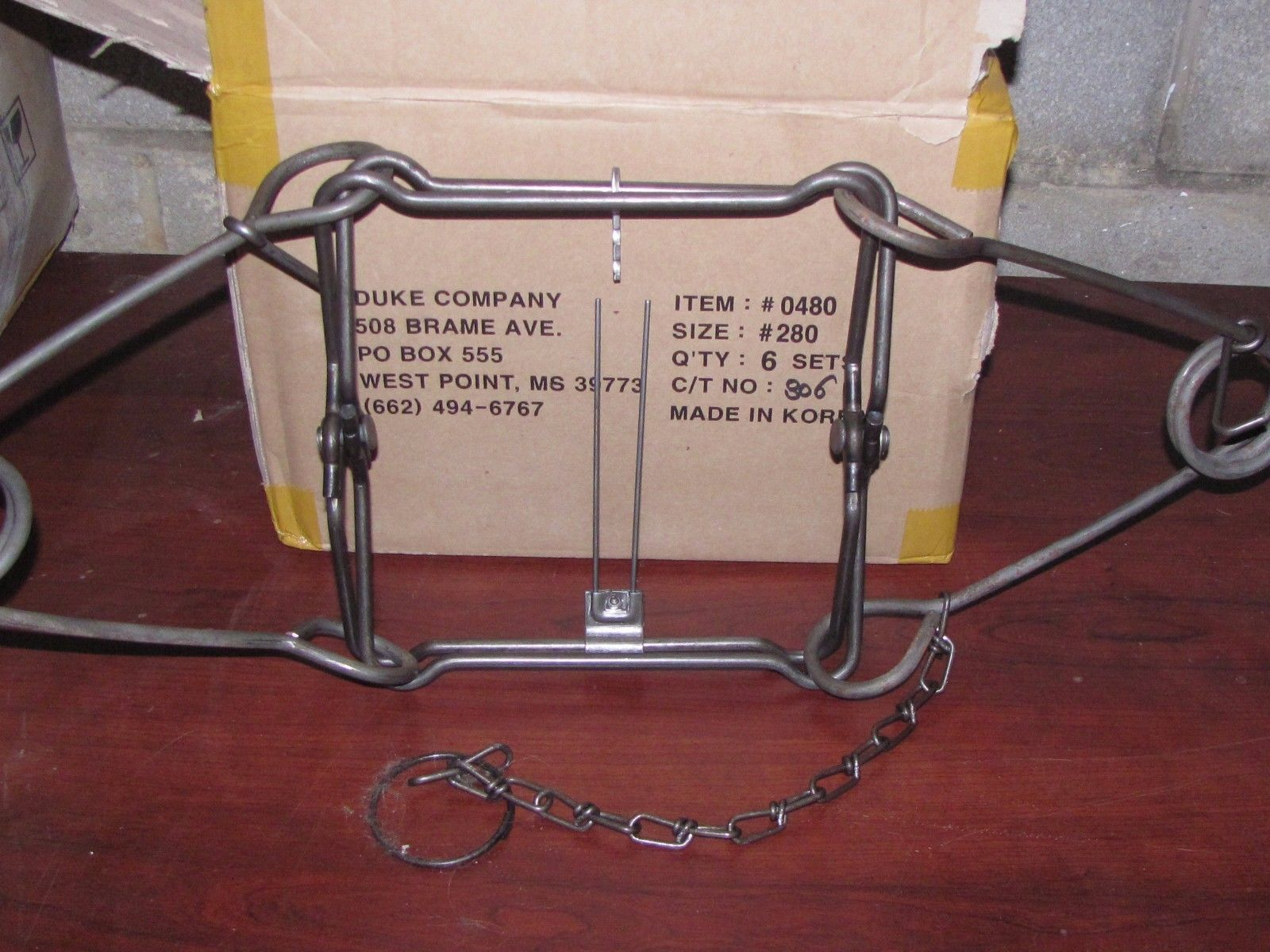 muskrat 2 New FPS 110 body traps rabbit mink squirrel trapping new sale