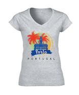 PORTO PORTUGAL - NEW COTTON GREY LADY TSHIRT  - $20.97