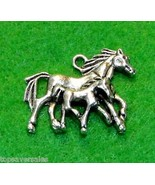 5Pcs. Tibetan Silver Horse Mother & Baby Charms Pendants Jewelry Finding... - $18.93