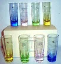 Lenox Tuscany Seasons Pastel Cordials Crystal Set of 8 Glasses New In Box - $58.90