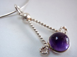 New Amethyst Handmade 925 Sterling Silver Pendant India - $11.87
