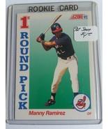 1992 Score #800 Manny Ramirez RC : Cleveland Indians - $2.80