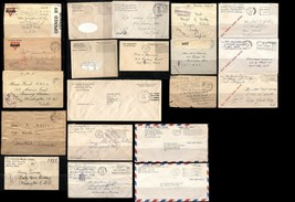 USA WWI WWII Free Mail ARMY Military Navy APO Airmail War Cover Collecti... - $246.60
