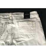 Women's NWT White Distressed Jeans Size 8 Nanette Lepore Flare New With ... - $16.82