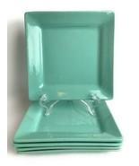 "5 PC MANOR LANE Home Collection Ceramic 7 5/8"" Square Salad Plates Mint ... - $34.64"