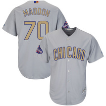 Chicago Cubs Men's #70 Joe Maddon Jersey Authentic Gray Baseball Stitched - $39.98