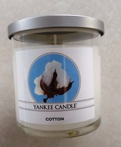 Yankee Candle Cotton Small 7 Ounce Tumbler Single Wick Candle Home Decor - $18.39