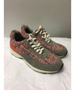 Women's Coral Gray Suede And Tweed Vince Camuto Sneakers Size 8 - $34.79