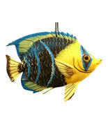 Tropical 3D Fish Christmas Tree Ornament 6 Inches Blue Tip 6ORN41 Resin - $19.98