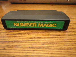 TI 99/4A Number Magic tested cartridge educational math basics fun for kids - $2.99