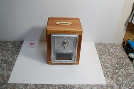 A1   Vintage Post Office Door Bank made with CHERRY WOOD KEYED LOCK w/ c... - $33.17