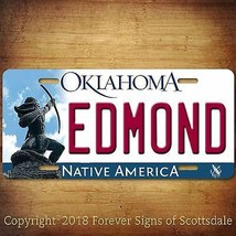 Edmond Oklahoma City State College Vanity Aluminum License Plate Tag - $12.82