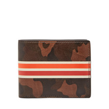fossil man genuine leather wallet Raff Flip ID Bifold - $24.00