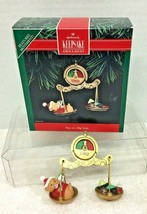 1992 Fun On A Big Scale Hallmark Christmas Tree Ornament MIB Tag - $12.38