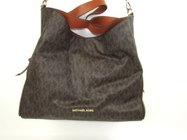 MICHAEL KORS Signature Devon Mocha Large Shoulder Tote Bag Purse Brown W... - $228.73