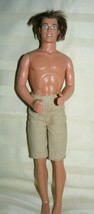"Mattel Ken Doll 12"" in khaki shorts - $10.34"