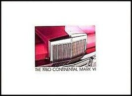 1980 Lincoln Continental Mark VI Prestige Brochure - $10.03