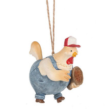 Hen w/Seed Basket Ornament - $12.95