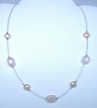 SILPADA STERLING SILVER PINK PEARL & ROSE QUARTZ NECKLACE N1724 !!! - $18.37