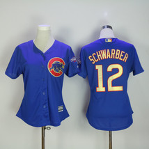 Men's Chicago Cubs 12 Kyle Schwarber Baseball Jersey Blue Champion  - $64.99