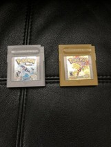 Pokemon: Gold Version and Silver Bundle Game Boy Color 2000 GBC USA Auth... - $37.99