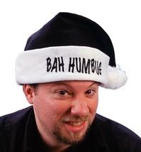 "Fun World 17"" Black ""Bah Humbug"" Christmas Santa Claus Hat White Cuff Ad... - €10,28 EUR"