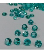 Natural Apatite 2.5mm Round 10 Pieces Cut Greenish Blue Color Loose Gems... - $19.66