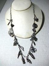 Fun Sterling Silver Chain Necklace with 19 Southwest Themed Charms - $265.50
