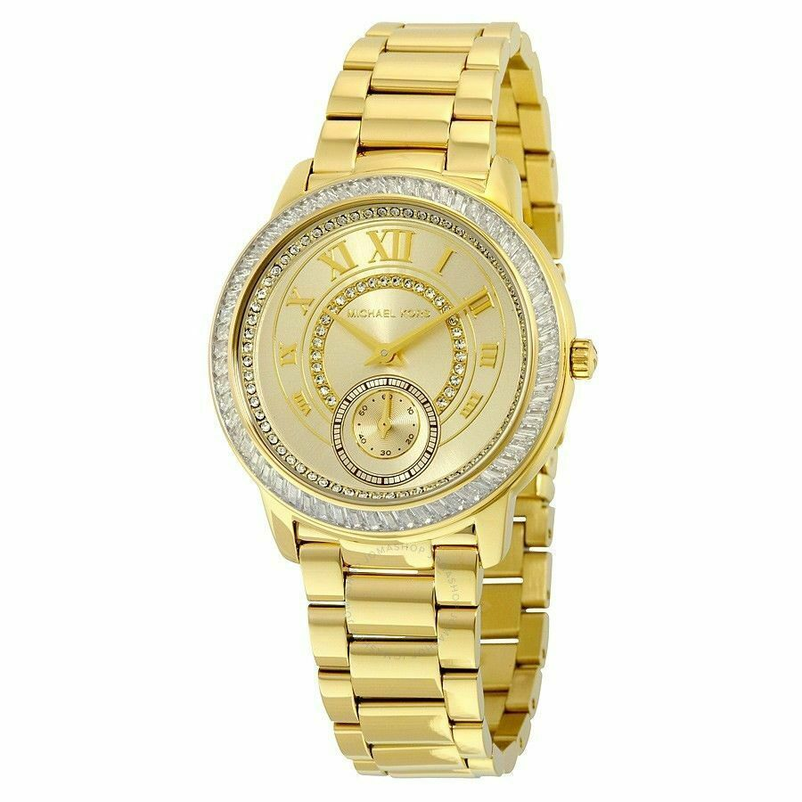 Primary image for Michael Kors MK6287 Madelyn Gold Tone Glitz Women's Watch