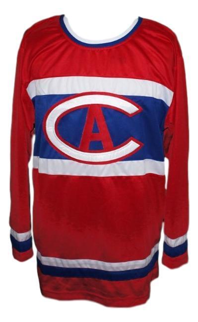 Custom   montreal retro hockey jersey red   1