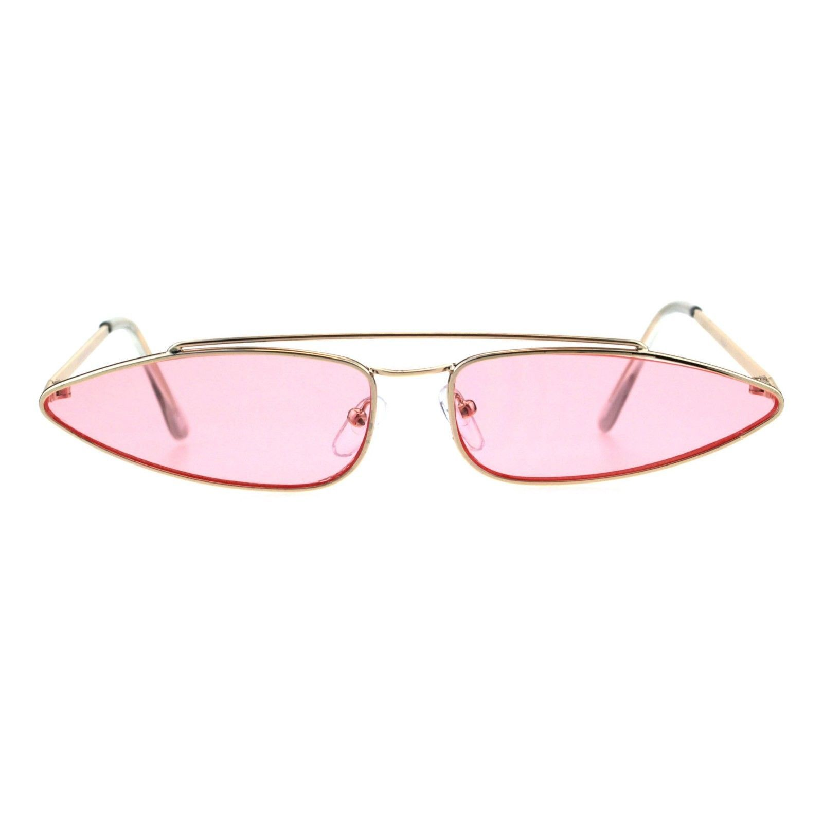 Vintage Retro Skinny Sunglasses Womens Indie Fashion Color Lens UV 400