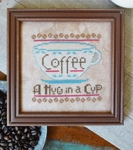 A Hug In A Cup #9 Cool Beans series cross stitch chart Hands On Design  - $5.40