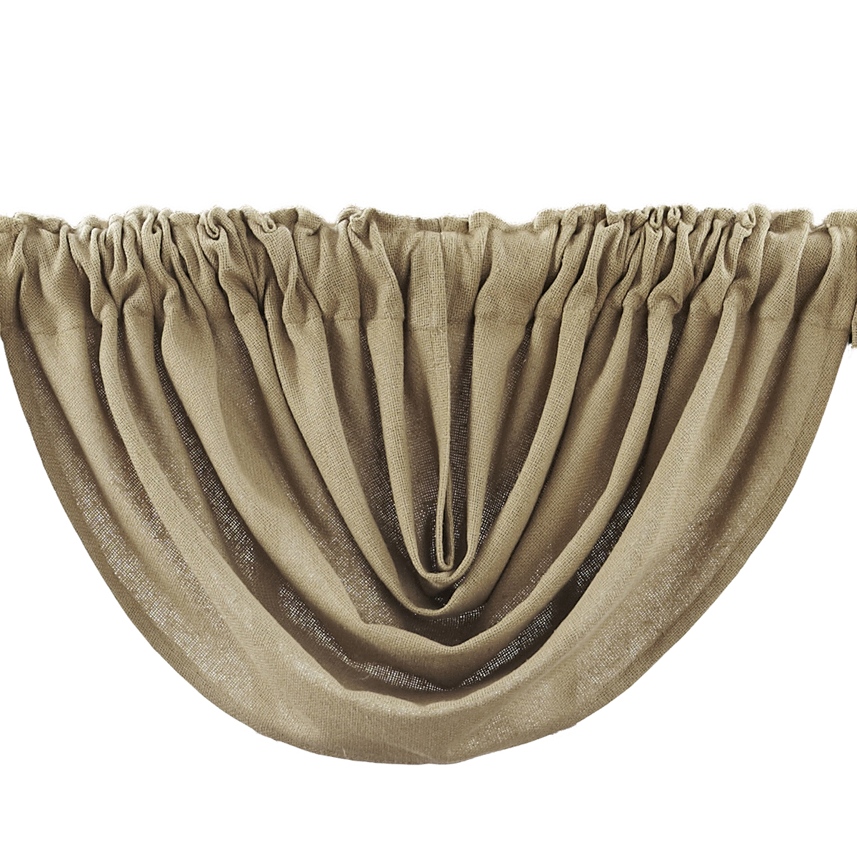 BURLAP NATURAL Balloon Valance - 60x15 - Country Farmhouse Style - VHC Brands