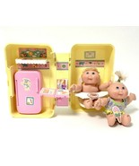 Vintage Mattel Cabbage Patch Kids Carry Case Kitchen Playset With 2 CPK ... - $46.04