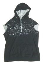 Mens Gypsy 05 Pullover Hoodie Sweatshirt Sleeveless Cap Sleeves Splatter... - $58.41