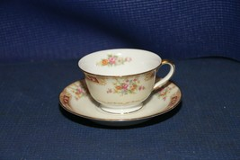 Noritake China Tea Cup / Coffee Cup w/Saucer - Vintage Floral Pattern - $12.69