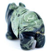 Kambaba Jasper Gemstone Miniature Rhinoceros Rhino Figurine Hand Carved in China image 3