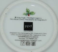 PPD Christmas Condiment Bowls Decorated Tree  Wreath Set of 4 New Bone China image 4
