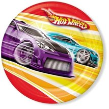 """Hot Wheels Fast Action 8 3/4"""" Paper Dinner Plates - $5.20"""