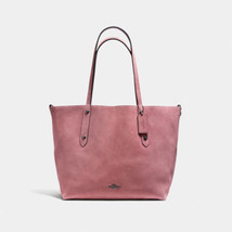 Coach 59503 Reversible Large Market Tote Bag  Suede Leather Rose oxblood... - $216.81