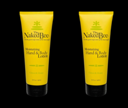 The Naked Bee Citron & Honey Hand & Body Lotion 6.7 oz Large Size Two Tubes - $22.76
