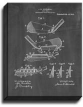 Golf Iron Patent Print Chalkboard on Canvas - $39.95+